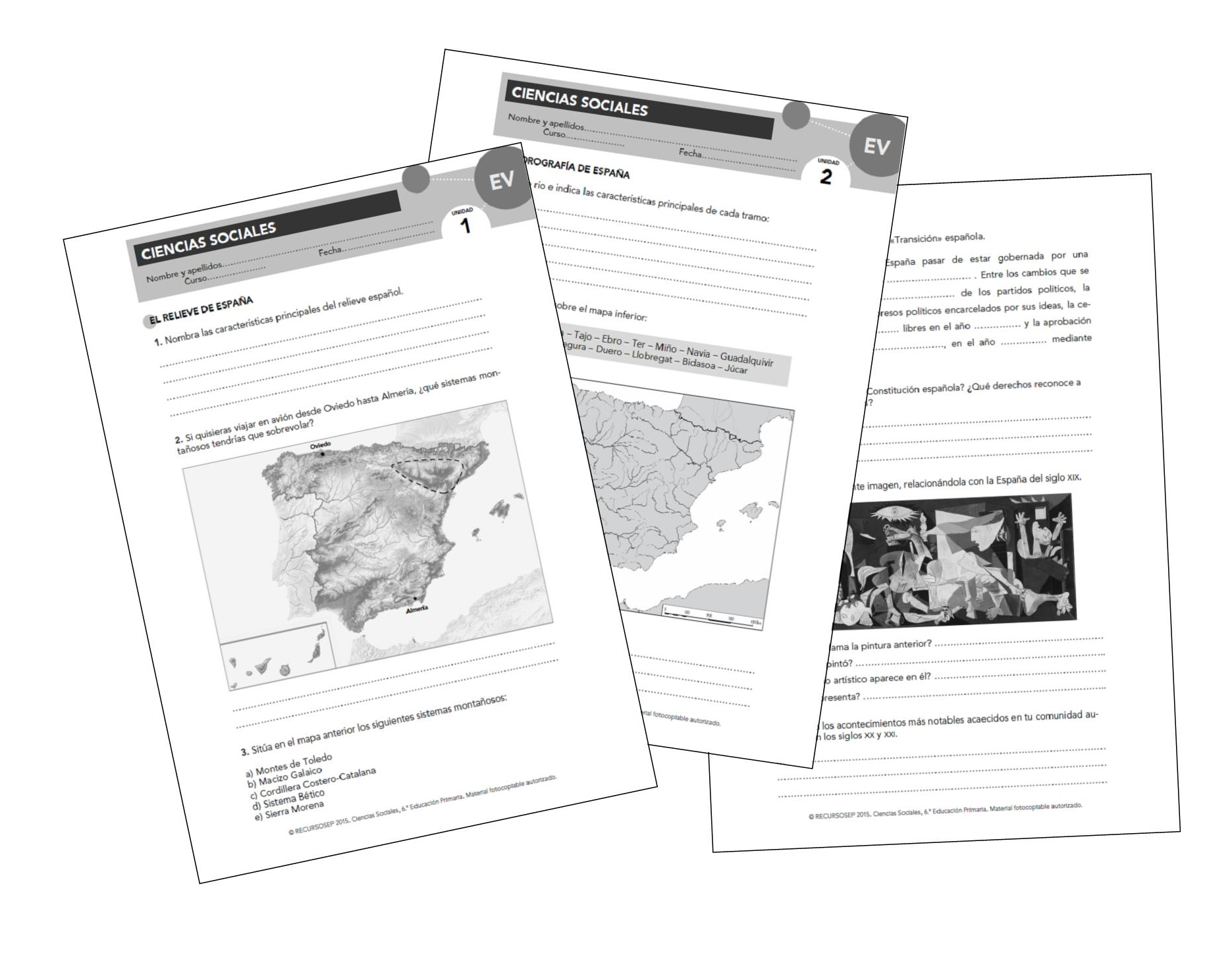 Evaluaciones propuestas 'APRENDER ES CRECER' (ANAYA